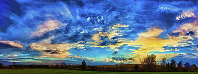 Downeast Sunset Cloudscape Poster