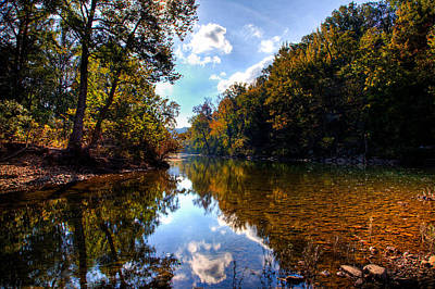 Poster featuring the photograph Downriver At Ozark Campground by Michael Dougherty