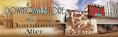 Downtown Before And Downtown After Poster