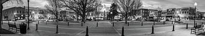 Downtown Bentonville Arkansas Panoramic Skyline Black And White Poster