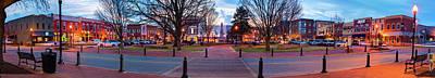 Downtown Bentonville Arkansas Town Square Skyline Panoramic  Poster