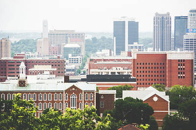 Poster featuring the photograph Downtown Birmingham - The Magic City by Shelby Young