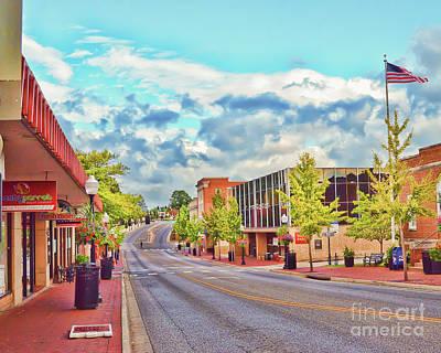 Downtown Blacksburg - Main Street Poster by Kerri Farley