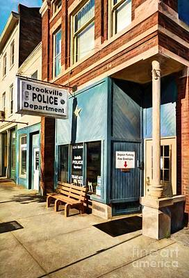 Downtown Brookville Indiana Poster by Mel Steinhauer