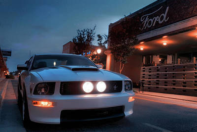 Poster featuring the photograph Downtown California Special - Mustang - American Muscle Car by Jason Politte