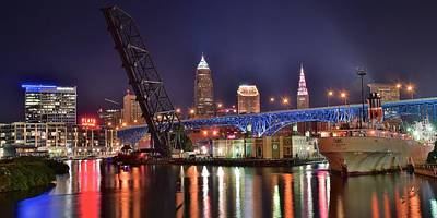 Downtown Cleveland Poster by Frozen in Time Fine Art Photography