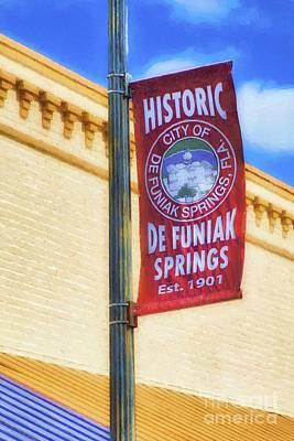 Downtown De Funiak Springs Poster