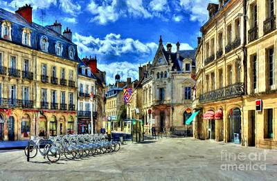 Downtown Dijon Poster by Mel Steinhauer