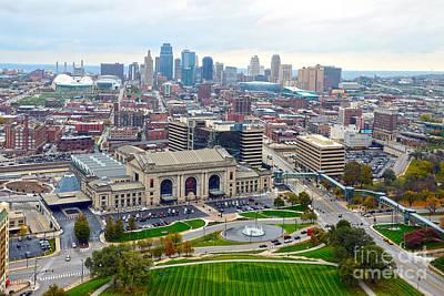 Downtown Kansas City From Liberty Memorial Tower Poster
