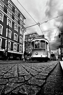 Downtown Lisbon Poster by Jorge Maia