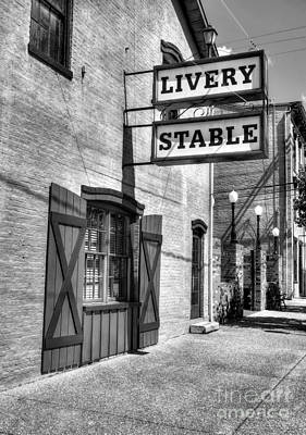 Downtown Madison Indiana Bw Poster by Mel Steinhauer