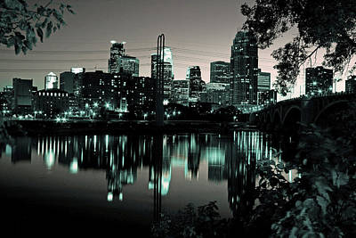 Downtown Minneapolis At Night II Poster