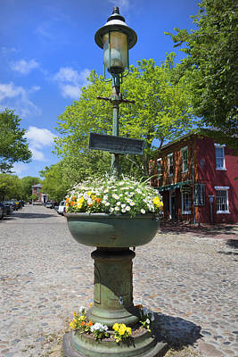Downtown Nantucket - Garden View 46y Poster