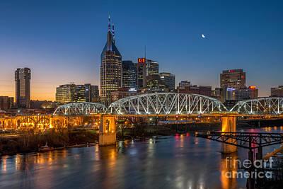 Downtown Nashville Poster by Anthony Heflin