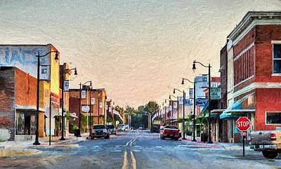 Downtown Paragould Poster by JC Findley