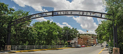 Downtown Silver City Poster by Allen Sheffield