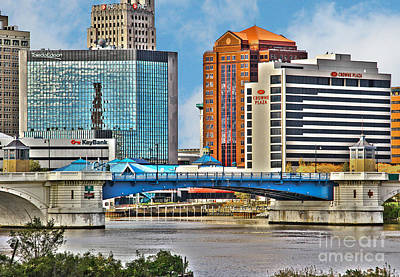 Downtown Toledo Riverfront Poster
