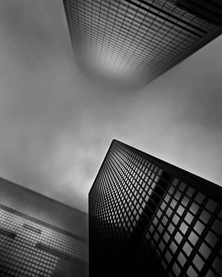 Poster featuring the photograph Downtown Toronto Fogfest No 1 by Brian Carson