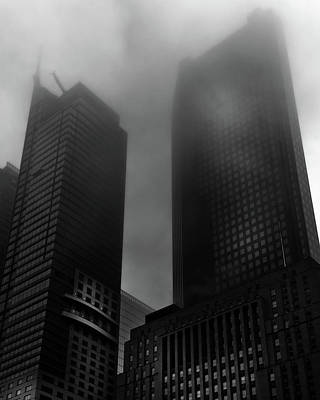 Poster featuring the photograph Downtown Toronto Fogfest No 2 by Brian Carson