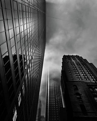 Poster featuring the photograph Downtown Toronto Fogfest No 4 by Brian Carson