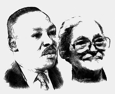 Dr. King And Mrs. Parks Poster