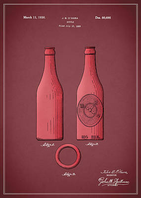 Dr Pepper Bottle Patent 1930 Poster