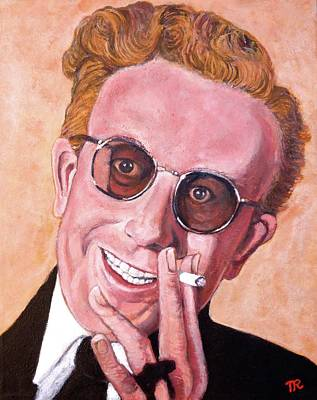 Poster featuring the painting Dr Strangelove  by Tom Roderick