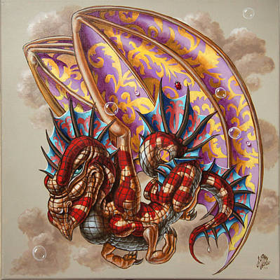 Dragon And A Ladybird Poster