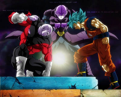 T-407 Dragon Super Super Saiyan Blue Goku Art Poster Silk 30 24x36