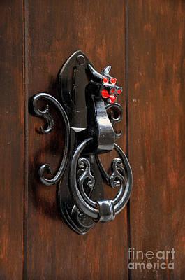 Dragon Door Knocker In Calaceite Poster