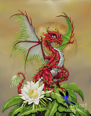 Poster featuring the digital art Dragon Fruit Dragon by Stanley Morrison
