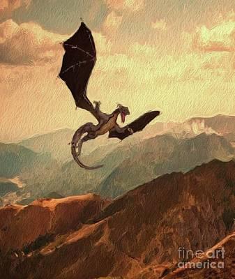 Dragon In Flight Poster