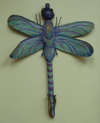 dragonfly Frond Poster