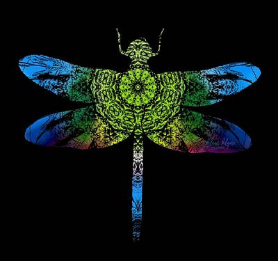 Dragonfly Kaleidoscope Poster