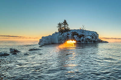 Poster featuring the photograph Dragon's Breath  // North Shore, Lake Superior by Nicholas Parker