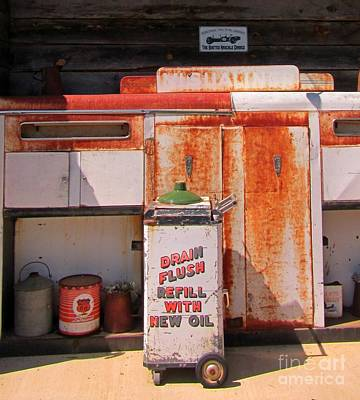 Drain Flush Refill With New Oil Poster by John Malone