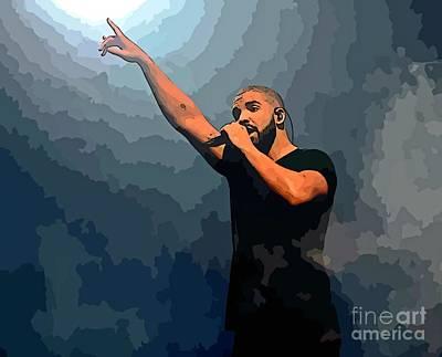 Drake Abstract Art Poster