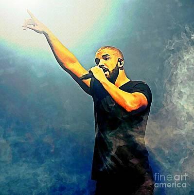 Drake Watercolor Portrait Poster