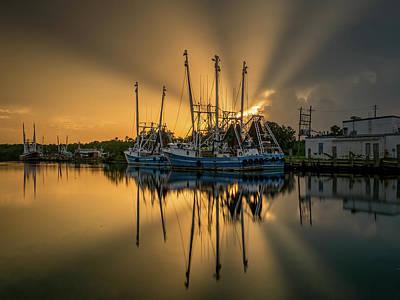 Dramatic Bayou Sunset Poster