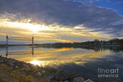 Dramatic Cape Cod Canal Sunrise Poster by Amazing Jules
