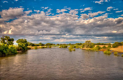 Dramatic Clouds And Kern River Poster