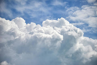 Dramatic Cumulus Clouds With High Level Cirrocumulus Clouds For  Poster