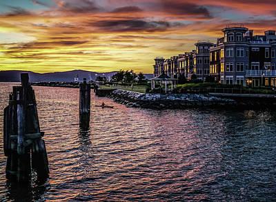 Dramatic Hudson River Sunset Poster by Jeffrey Friedkin