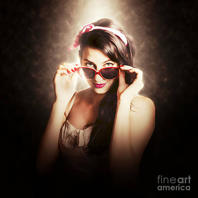 Dramatic Pin Up Fashion Photograph Poster by Jorgo Photography - Wall Art Gallery
