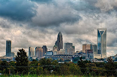 Dramatic Sky And Clouds Over Charlotte North Carolina Poster by Alex Grichenko