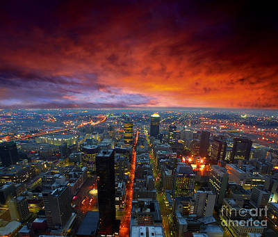 Dramatic Sky Over City Streets Poster by Caio Caldas