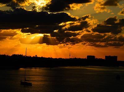Dramatic Sunrise At Nassau Poster