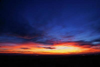 Dramatic Sunset In Boise Idaho Poster by Vishwanath Bhat