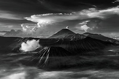 Poster featuring the photograph Dramatic View Of Mount Bromo by Pradeep Raja Prints