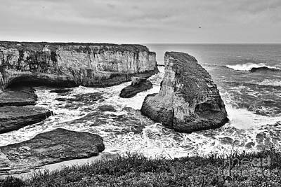 Dramatic View Of Shark Fin Cove Poster